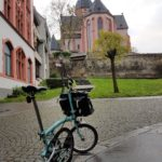 A Brompton bike in Mainz, Germany